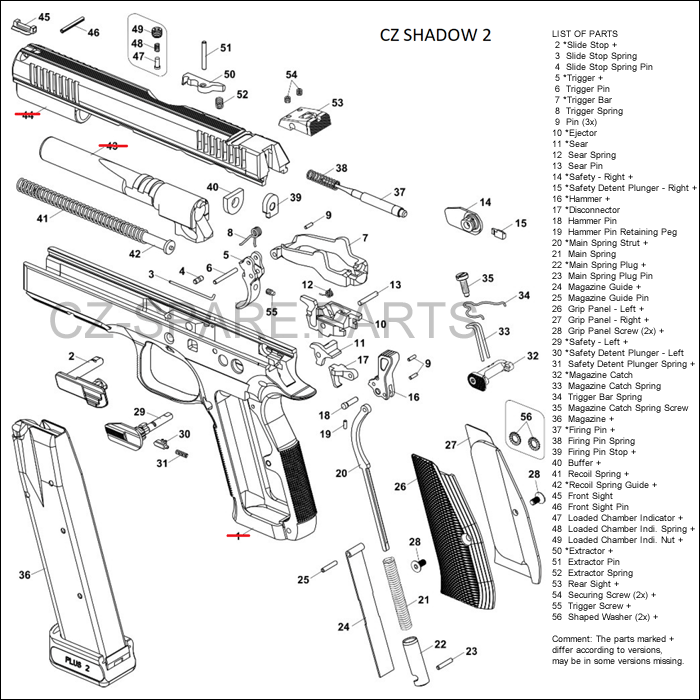 Active CZ SHADOW 2 diagram | CZ Spare Parts and Accessories on revolver schematics diagrams, shotgun schematics or diagrams, handgun schematics and how it works,