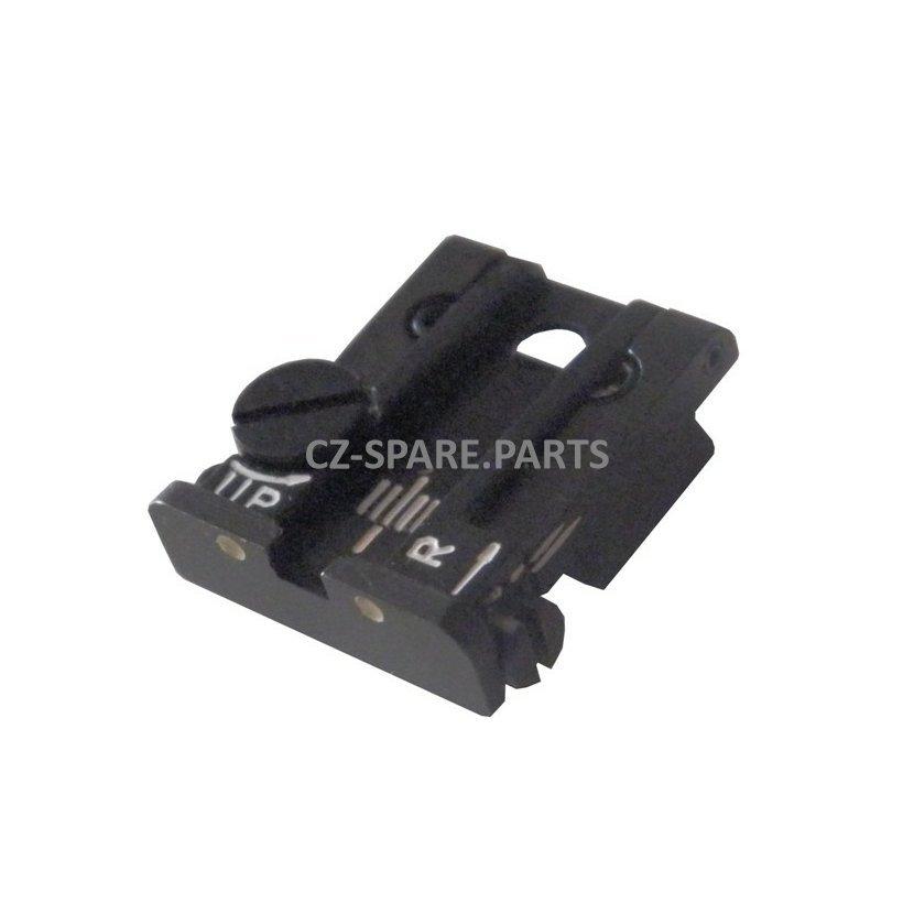 Adjustable rear sight LPA green phosphorus dot - CZ 75, CZ 85B, CZ 75 SP01,  CZ 97, CZ 83 | Find CZ Parts, Magazines And Accessories